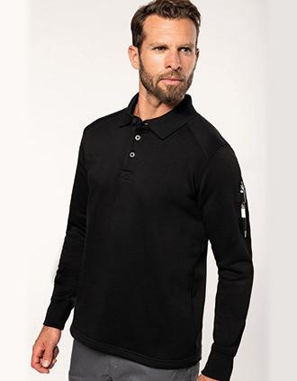 Polo neck sweatshirt