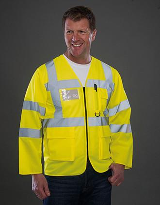 Hi-Vis Long Sleeve Executive Waistcoat
